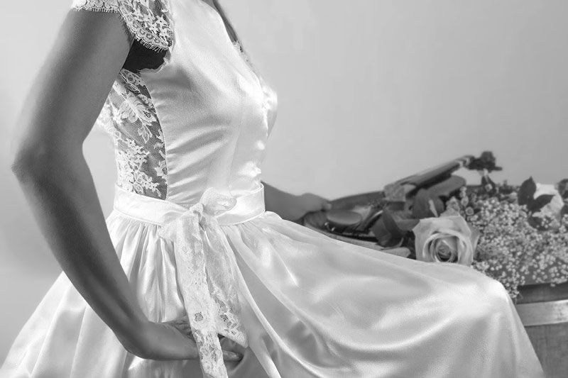 Robe de mariée finition