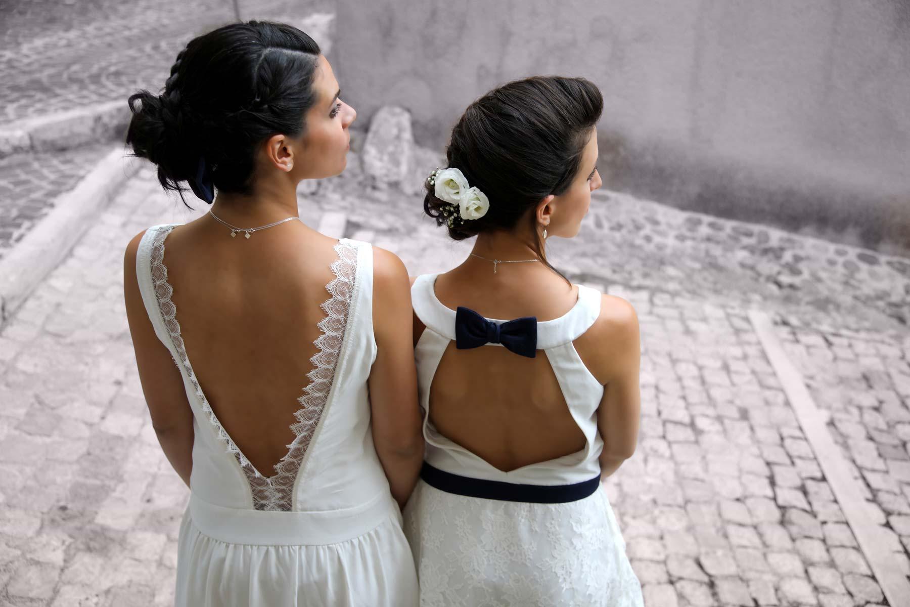 Deux robes pour deux mariages sur Nîmes